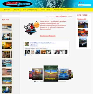 Power Games:  - Joomla 1.5 - Social Community - FlickR - facebook